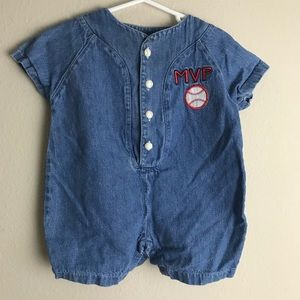 Other - Vintage baseball Rompers 6/9 Months